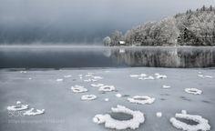 Popular on 500px : Winter Morning at Lake Bohinj by angelainokchong