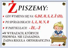 ORTOGRAFIA 4 Aa School, Back To School, Learn Polish, Poland History, Polish Language, Our Kids, Teaching English, Learning Activities, Motto
