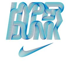 Hyper Dunk for Nike by Alex Trochut via @Brendon_oco