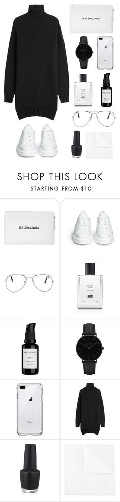"""chantel"" by hgbm ❤ liked on Polyvore featuring Balenciaga, Robert Clergerie, Nasty Gal, Atelier Bloem, Root Science, CLUSE, Isabel Marant, OPI and Canali"