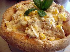 Κοτοσαλάτα για το τραπέζι των Χριστουγέννων Baked Potato, Food And Drink, Menu, Baking, Ethnic Recipes, Menu Board Design, Bakken, Bread, Backen