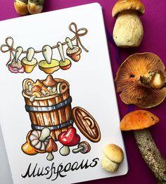 """346 Gostos, 8 Comentários - Ekaterina (@alexkipnis) no Instagram: """"Eat mushrooms  Грибы для русского человека все - и суп, и закуска, и второе,  только что не…"""""""
