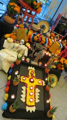 Altar by MAYAHUEL at the Museum's Day of the Dead party on Oct. 25, 2013.