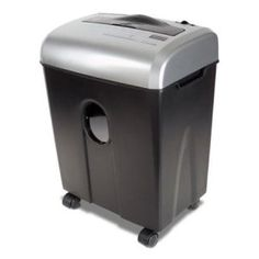 Cross-Cut ShredSafe Paper/CD/Credit-Card Security Office Home Shredder Paper Shredder, Plastic Manufacturers, Steel Cutter, Shredded Paper, Safety Switch, Paper Cutting, Cut Paper, Aurora, Black And Grey