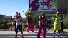 Damelo Todito routine by Eva Brammer & Z Spot - Zumba in Las Vegas Freeway