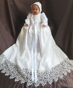 dåpskjole nr 199 i sateng og blonder christening down nr 199 from satin og lace Girls Dresses, Flower Girl Dresses, Christening Gowns, Satin, Wedding Dresses, Lace, Design, Fashion, Layette
