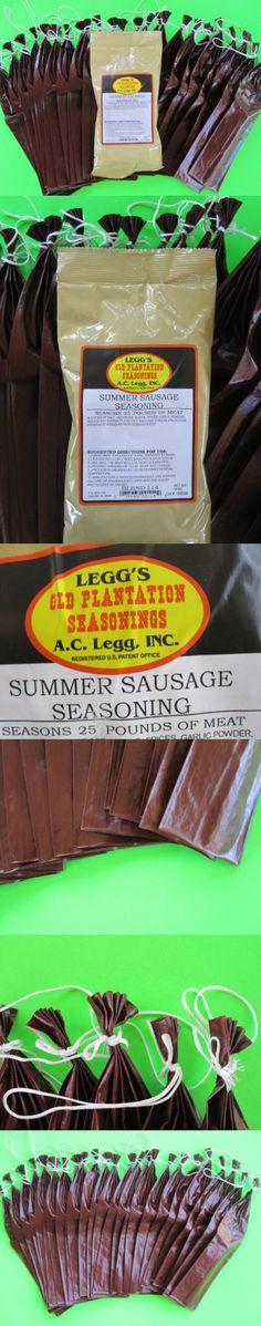 Summer Sausage seasoning and Casing Sleeves for 25 lbs of meat. Add venison, beef, pork, elk, moose etc.