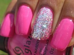 hot pink and silver nails.. next time to jazz it up? right now i have nude with one gold nail :)