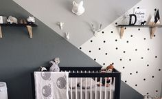 Black, white and WILD all over! This Monochrome Zoo Nursery is both stimulating for a newborn baby and relaxing and clean for Mom and Dad.