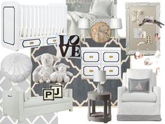 My baby boy nursery moodboard, with accessories