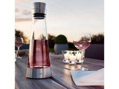 Karafa z ručně foukaného skla a vysoce kvalitní nerezové oceli s automatickým uzávěrem