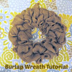 Step-by-step guide to making this rustic burlap wreath.