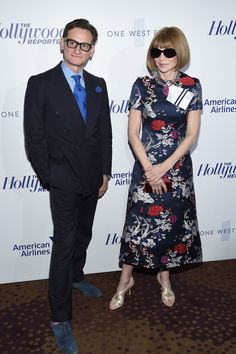 Anna Wintour Photos Photos - Hamish Bowles and Anna Wintour attend The Hollywood Reporter 35 Most Powerful People In Media 2017 at The Pool on April 13, 2017 in New York City. - The Hollywood Reporter's 35 Most Powerful People in Media 2017