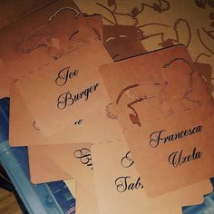 Printed place name order! #jld #placecards #eventdecor #event #weddingdecor #weddingday #weddings #wedding #new #order #etsy #etsyshop #etsygifts #brown #kraftbrown