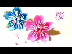 折り紙 桜 Origami Sakura - YouTube