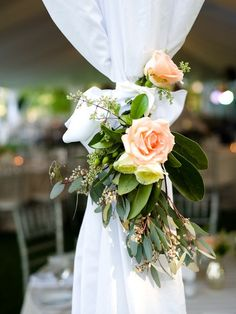 arbor flowers in a garland though. Show lindsey simle use sheers greenery from my bushe a few flowers and tie with a ribbon