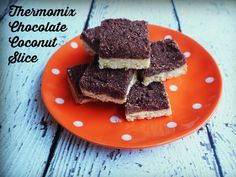 Thermomix Chocolate Coconut Slice - so easy, so yummy and egg free!