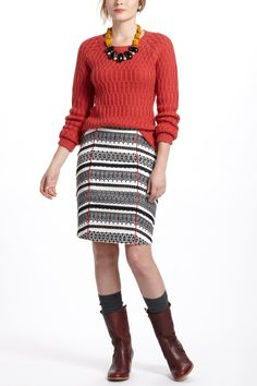 Piped Lace Pencil Skirt - Anthropologie.com