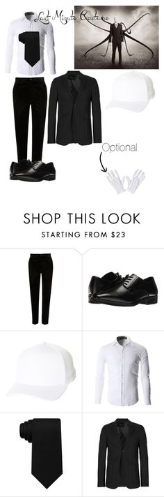 """""""Slenderman"""" by jaspertheghost ❤ liked on Polyvore featuring River Island, Stacy Adams, Flexfit, Tommy Hilfiger and Topman"""