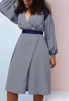 4a4148676fd prabal gurung lane bryant striped dress Fashion 2018 Trends
