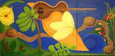 """Tropical Dream"" 6 foot by 3 foot Acrylic on Canvas Artist, Craig Michael Meklir"