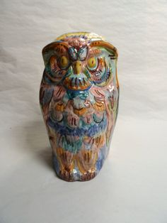 Big colorful owl. Grande civetta colorata. di LabLiu su Etsy, €50.00