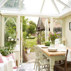 Beautiful English conservatory....i really, truly so want so badly a conservatory.  really, truly, badly i do....