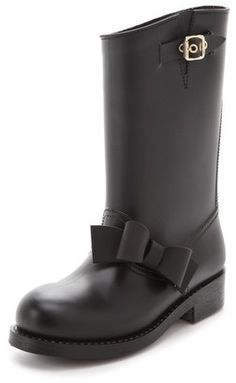 ShopStyle: RED ValentinoBow Rain Boots