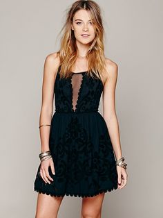 Free People Love Letters Burnout Dress at Free People Clothing Boutique