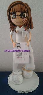 fofucha-creacionesreme-enfermera-oculista-personalizadas-foami –perrito-muñecas artesanas-alcala de henares -fofuchas-medico-bailarina-escen...