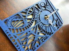 Doctor Who Timey Wimey Tardis Clock. $42 on Etsy.