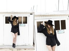 Get this look: http://lb.nu/look/8292503  More looks by Kristi Gogsadze: http://lb.nu/lageorgienne  Items in this look:  Zara Leather Hat, Sir The Label  Romper, Hudson Shes Ankle Boots   #bohemian #casual #minimal #romper #sirthelabel #ankleboots #hudsonshoes #hat #leatherhat