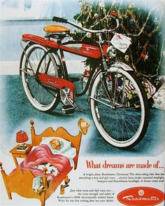 I wish everyone could have a new bike ~~ Vintage Roadmaster advertisement