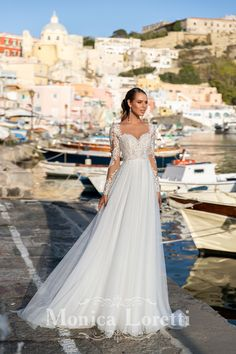 Collection of wedding dresses by Monica Loretti Brides Room, Ever After, Bridal Collection, Marie, Wedding Gowns, Catalog, Couture, Style, Wedding Ideas
