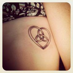 Celtic heart w/ interlocked trinity symbol.my first tattoo! Representing the fact that no matter where I go in life, I will always have God! Trinity Knot Tattoo, Celtic Knot Tattoo, Celtic Tattoos, Trinity Symbol, Hart Tattoo, Arm Band Tattoo, Wrist Tattoo, Tatoo Art, Body Art Tattoos