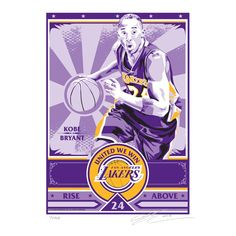 d9c44ded3 That s My Ticket Los Angeles Lakers Kobe Bryant Sports Propaganda Canvas  Serigraph