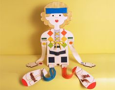 Small Motors Practice, Lacing, Wood Doll, for Boys, Buttons and zippers, Dressing Skills Development .