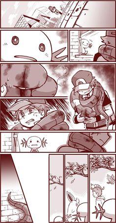 It reminds me Bakugou and Midoriya - Pokemon Pokemon Manga, Pokemon Comics, Pokemon Memes, Pokemon Human Form, Pokemon Funny, Pokemon Team, Pokemon Fan Art, Chibi, Pokemon Special
