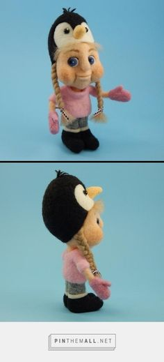 Needle felted finger puppet from Terese Cato.