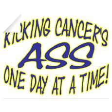 ancersayings | Kicking Cancer's Ass Wall Decal