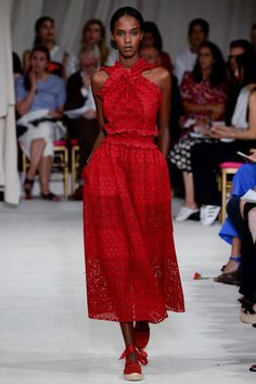 #OscardelaRenta Oscar de la Renta Spring 2016 Ready-to-Wear Fashion Show