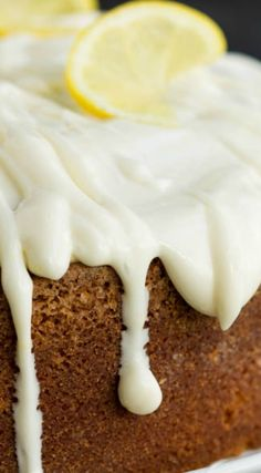 Trisha Yearwoods Lemon Pound Cake with Glaze ~ It is moist and perfectly flavored... This cake is bright and fresh and a must-make recipe ~ This cake is always a hit.