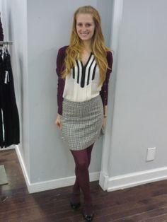 Le coup de cœur de l'heure de notre ambassadrice d'Edmonton  : une jupe en mélange de laine / Our Edmonton It Girl crush of the moment: a wool blend skirt www.jacob.ca