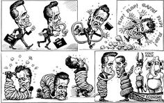 KAL's cartoon: this week, tied up