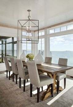 I like the large table, the chairs and the overall modern, clean and warm feeling