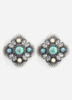 Serena Earrings in Turquoise