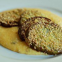 Fried Green Tomatoes with Jalapeno Cheese Grits