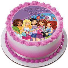 Lego Friends Edible Birthday Cake Topper OR Cupcake Topper, Decor