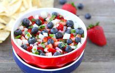 Blueberry, Strawberry and Jicama Salsa— so good!