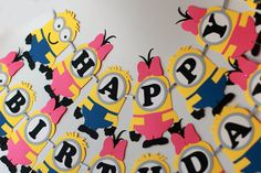 Girls and Boys Minion party banner por RaisinsPartySupplies en Etsy
